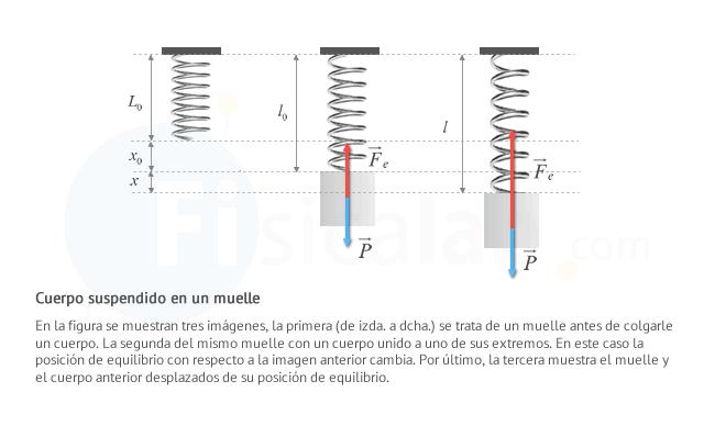 oscilación colgado