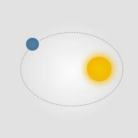 La Tierra girando alrededor del Sol