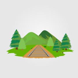 Montañas y vías