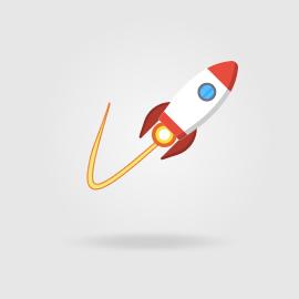 Trayectoria cohete y límites matemáticos